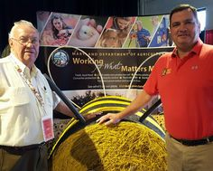 MDSTATEFAIR Chairman Grove Miller and Secretary of Agriculture Joe Bartenfelder.