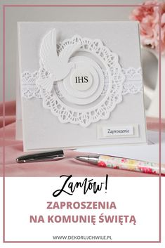 Place Cards, Scrapbooking, Place Card Holders, Diy, Envelopes, First Holy Communion, Cards, Creative Crafts, Communion