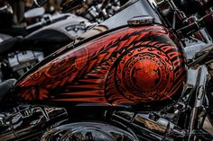 Epic Firetruck's Motor'sicle Paint ~ Jean Paul Defay Photographie ~