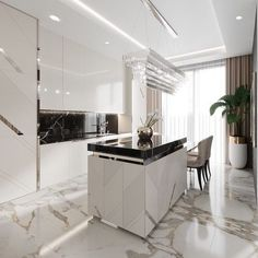 50 modern kitchen ideas and decorating ideas for kitchen design 23 - Kitchen Decor Luxury Kitchen Design, Luxury Kitchens, Home Design, Interior Design Living Room, Cool Kitchens, Design Ideas, Design Styles, Small Kitchens, Dream Kitchens
