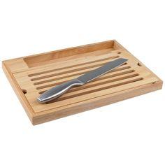 Hier hat jemand mitgedacht - praktisches Brotschneidbrett mit Bröselauffang und Messer, 19,99€