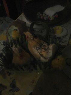 Vrolijk Paaswensen van de kippen en de kuikens!!!♡☆