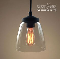 Cloche Glass Ceiling Pendant Lighting Industrial Hanging Lamp CLOCH West men lights pendant light named CLOCH reveals industrial farmhouse or modern office styl