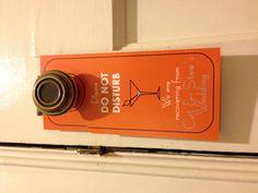 Custom made Wedding Door Hangers designed, printed and hand cut by wright4design sold on Etsy.com, $3.00 #grooms #bachelor #bachelorparty #giftbag #donotdisturb #2014 #orange #martini #bacheloretteparty #etsy #DIY #bachelorette #weddingplanner #gift #bag #customdesign #weddingwelcomebag #doorhanger #instawedding #diy #doorknob #diywedding #weddingidea #weddinggift #weddingfavor #giftbag #Etsywedding #destinationwedding #instabride #instawedding  http://www.etsy.com/people/wright4design