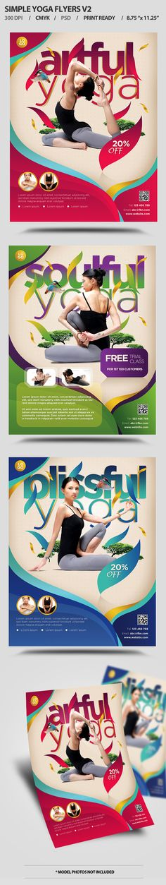 Simple Yoga Flyer by satgur , via Behance