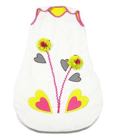 Take a look at this Pink Sassy Diva Ribbed Chenille Sleeping Sack - Infant on zulily today!