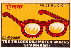 vintage Indian matchbox label