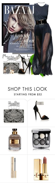 """""""Memorable Lady"""" by ionara ❤ liked on Polyvore featuring Oris, Alexander McQueen, Balmain, Giuseppe Zanotti, Valentino, Chanel, Dolce&Gabbana and Yves Saint Laurent"""
