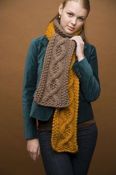 Free Knitting Pattern: Mixed Message Scarf