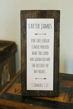 Baby Nursery Quote Sign - Rustic Decor - New Parent Gift -