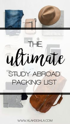Use This Packing List As A Guide When Tackling Your Suitcase Struggles! Be Sure To Consider Your Destination In Order To Tailor This List For Your Experience #CUBoulderAbroad
