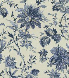 Home Decor Print Fabric-Waverly Felicite Indigo & home decor print fabric at Joann.com $45/yd - 2yds