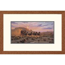 'Western Racing The Sun' by Tom Haas Framed Painting Print