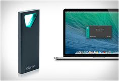 SESAME | WIRELESS PROXIMITY MAC LOCK - It works almost like the keyless system in modern cars, it´s a gadget that is light and small (10g), so you may have it on, like in a pocket, or on your key chain, and what it does is that the minute you walk away from your computer it automatically blocks it so that you won´t have to worry about forgetting to do it.