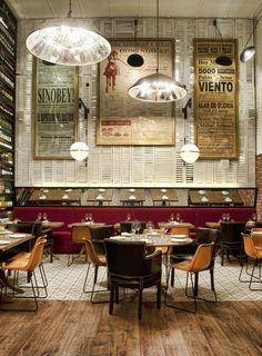 Shutters as wall treatment from Restaurant and Bar Design Awards, Iberica (Canary Wharf) (London)