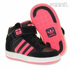 Photo Adidas Varial I Mid - Baskets enfant du 19 au 27 - Noir et rose #mode #enfant #kid #sneakers