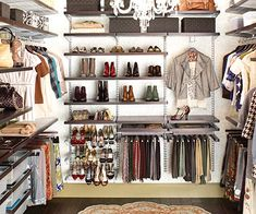 I wish this were my closet, this is so spacious and organized, a place for everything and easy to find