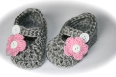 Gray+baby+girl+baby+booties+shoes+mary+janes+by+tweetotshop,+$18.99