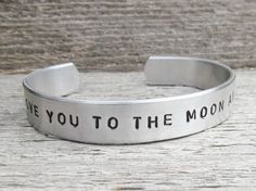 Toddler Cuff Bracelet I LOVE You To The MOON And by AlwaysAMemory, $16.00