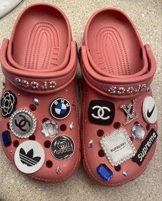 Crocs Fashion, Sneakers Fashion, Jordan Shoes Girls, Girls Shoes, Designer Crocs, Croc Charms, Bling Shoes, Aesthetic Shoes, Fresh Shoes