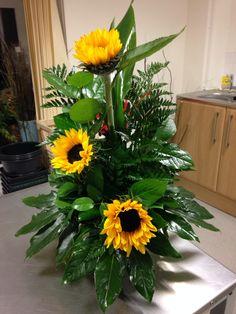 Sunflower Line Arrangement
