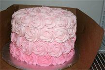 Ombré rose smash cake