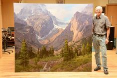 jim wilcox with painting