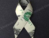 Dollar Bill Origami RIBBON - Great Gift Idea - Made from Real Money