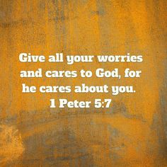 Give God Your Cares