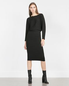DRESS WITH BACK VENT-View all-Dresses-WOMAN | ZARA United States