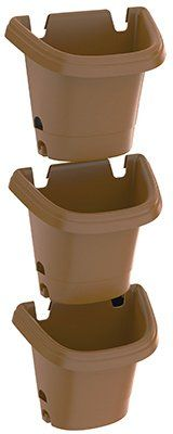 Bloem 4 Piece Hanging Garden Planter System Chocolate >>> Details can be found by clicking on the image.