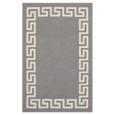 Handmade flatweave wool rug with a Greek key border.  Product: RugConstruction Material: 100% WoolColor: ...