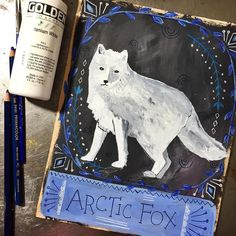 Arctic Fox! This one is special to me. Magic amidst the ordinary. Invisibility; the ability to move through the world unseen, like the wind. Protector of the family unit. Oneness, through the art of camouflage. Magic is afoot. #dailyanimalart #arcticfox #fox #foxart #animalmedicine #paintingaday