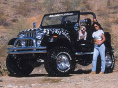 I'd take this JEEP too. My single friends out there may be more interested in the driver. You distract her, I'll take the JEEP. Jeep Wrangler Tj, Cj Jeep, Jeep Rubicon, Jeep Wrangler Unlimited, Jeep Truck, Jeep Srt8, Jeep Willys, 4x4, Toyota