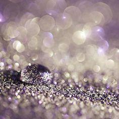 f7058c379f drop of water in a glitter landscape. Black Sparkle
