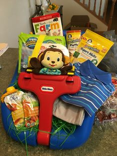 My sons first dump truck easter basket babys 1st pinterest outdoor infant swing easter basket for boy negle Gallery