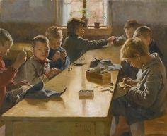 catonhottinroof: Albert Edelfelt THE BOYS' WORKHOUSE, HELSINKI