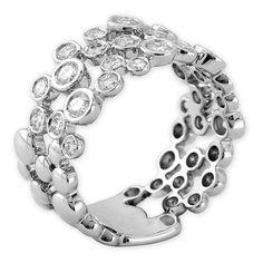 Exquisite Diamond Bubbles Ring
