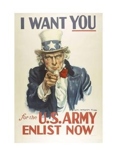 Military and War Posters: I Want YOU for the U.S. Army. James Montgomery Flagg Prints at AllPosters.com