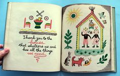 My Vintage Avenue  The Thank-You Book by Françoise, 1947.