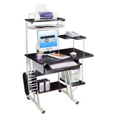 Techni Mobili Complete Media Computer Desk, Woodgrain, 38-Inch W by ...