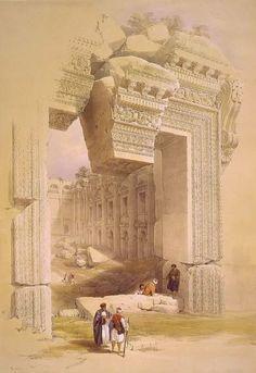 Baalbec May 7th 1839, by David Roberts, R.A.