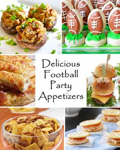 delicious appetizers with photos | Delicious Football Party Appetizers