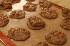 Pralines....made with Brown Sugar, Cool Whip (of all things) and Pecans cooked in the microwave.  How simple can you get.