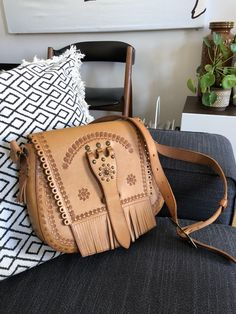 Excited to share this item from my shop: Tooled leather satchel purse 1972 stamped Cepella adjustable strap hippie Satchel Purse, Leather Satchel, Leather Purses, Leather Tooling, Tooled Leather, Shopping Day, Phone Wallet, Saddle Bags, Fashion Backpack