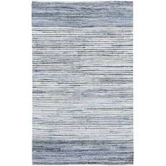 Zipcode Design Audriana Hand-Woven Cotton Sky Blue Area Rug Rug Size: Rectangle x Rug Loom, Navy Rug, Outdoor Area Rugs, Indoor Outdoor, Outdoor Spaces, Online Home Decor Stores, Throw Rugs, Blue Area Rugs, Blue Rugs