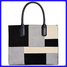 Giani Bernini Suede Patchwork Satchel - Top handle bags (*Amazon Partner-Link)