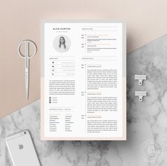 Ideas Modern Resume Template & Cover Letter Icon Set by OddBitsStudio Modern Resume Template, Cv Template, Resume Templates, Microsoft Word, Web Design, Resume Design, Graphic Design Cv, Resume Layout, Cover Letter Template