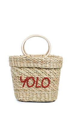 Poolside Bags The Mac Yolo Tote Bag | 15% off 1st app order use code: 15FORYOU