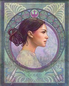 Padme Amidala Star Wars Episode 1 2 3 Original Illustration